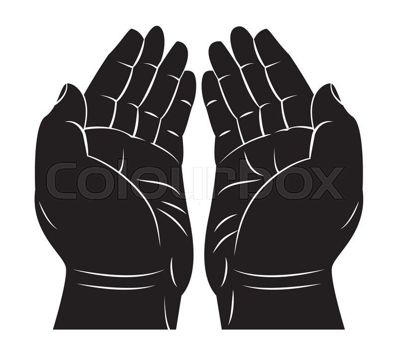 praying hand stock vector colourbox praying hand stock vector colourbox