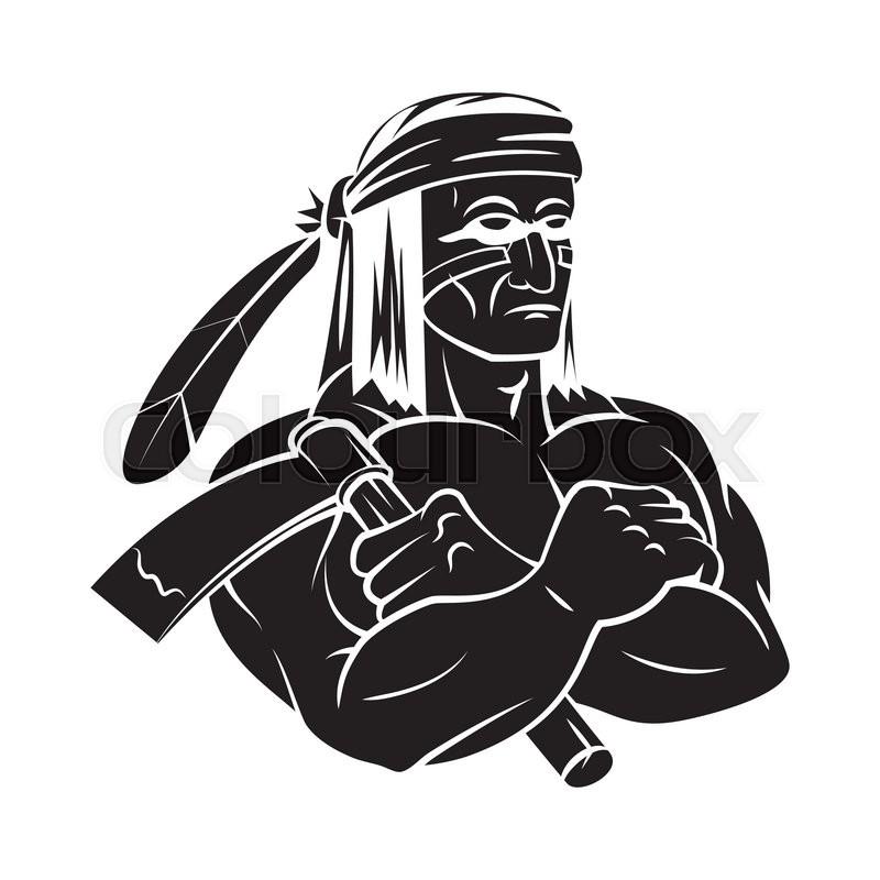 Apache Mascot tattoo | Stock vector | Colourbox