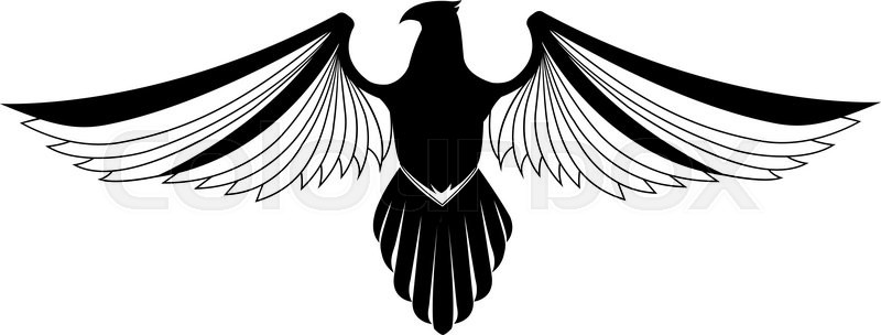 Eagle Wing Symbol Stock Vector Colourbox