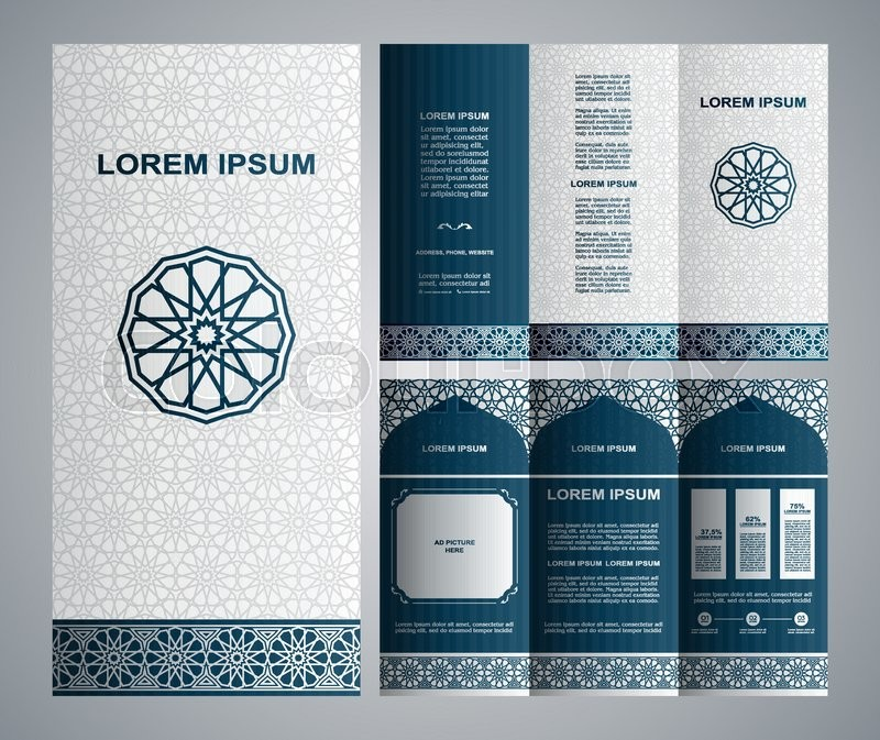 Vintage Islamic Style Brochure And Flyer Design Template With Logo