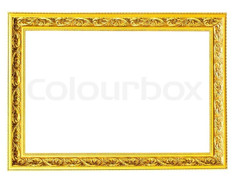 Vintage Bilderrahmen , vergoldet, weißen Hintergrund.   Stockfoto ...