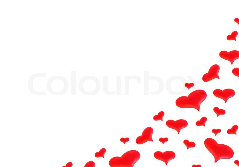Red Hearts For Valentineu0027s Day Cards Or On A White Background | Stock Photo  | Colourbox