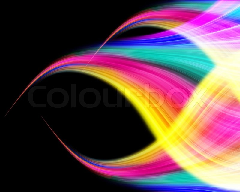 Abstract Volleyball On Colorful Wave Background: Abstract Colorful Wave Design On A ...