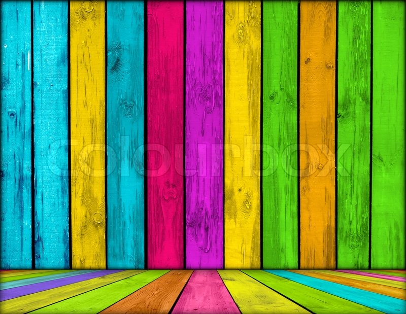 Vibrant wooden room as background stock photo colourbox - Vibrant background ...