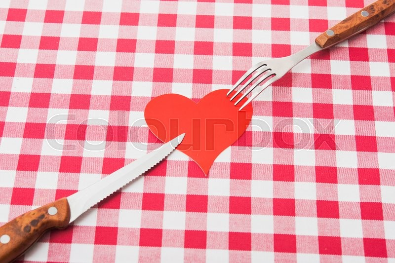 Concept of love to kitchen work, stock photo