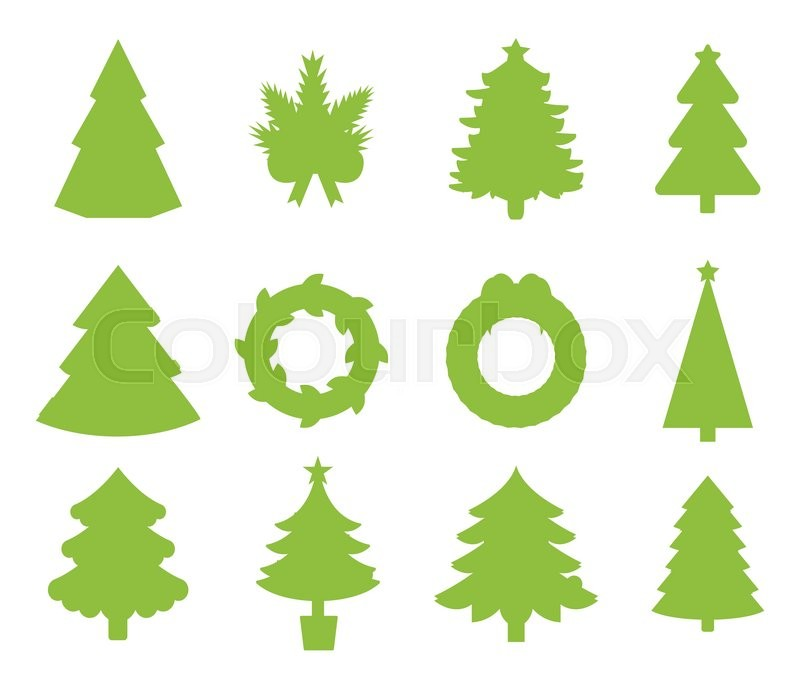 christmas tree icons set christmas tree vector new year tree isolated christmas tree vector illustration new year tree silhouette
