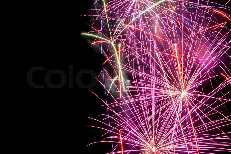 new year firework on dark background can be used for new year evening celebration event holiday winter themes stock photo colourbox