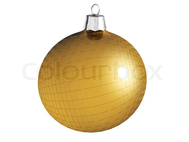 goldene weihnachtskugel mit mustern isoliert auf wei stockfoto colourbox. Black Bedroom Furniture Sets. Home Design Ideas