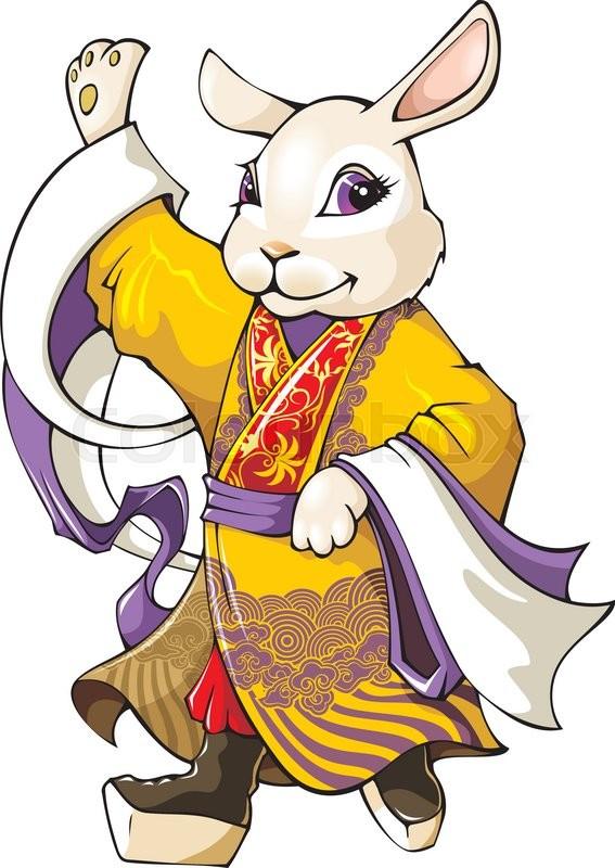 White Rabbit The Symbol Of Chinese Lunar Calendar Wearing