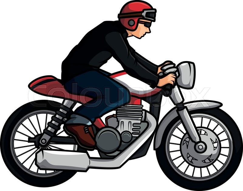 old motorcycle biker stock vector colourbox rh colourbox com vector motorcycle free vector motorcycle logo