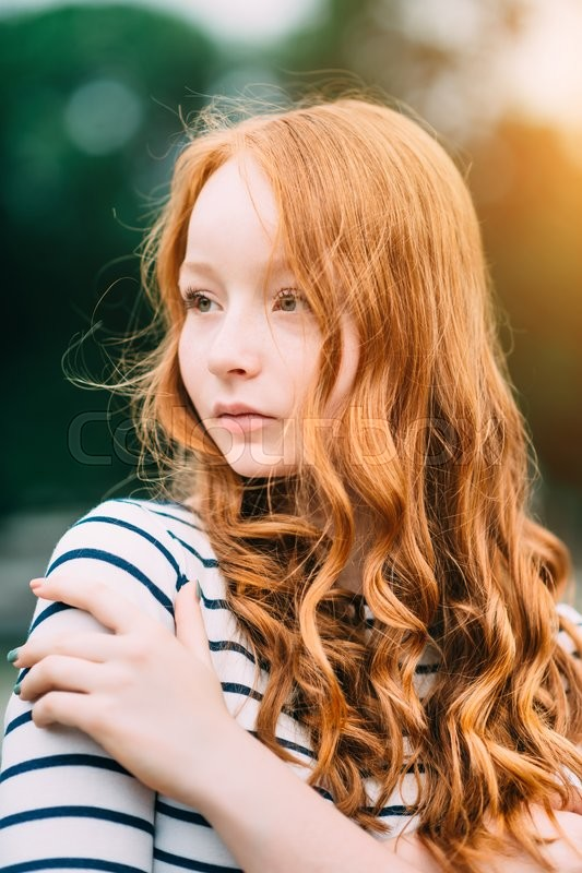 Ginger teen curly hair