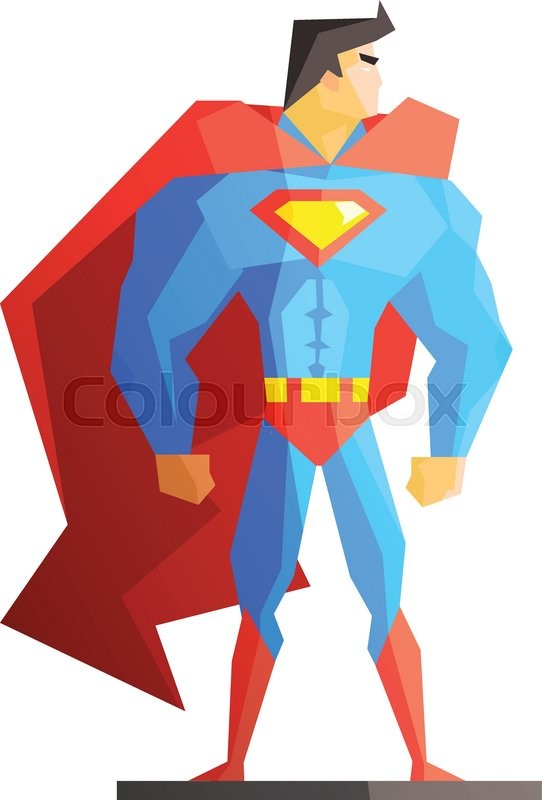 superhero vector illustration on white background flat style rh colourbox com superhero vector super hero vector
