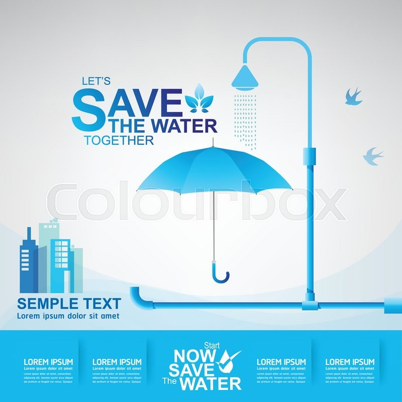 Save Water Vector Eps 10 Template Stock Vector Colourbox