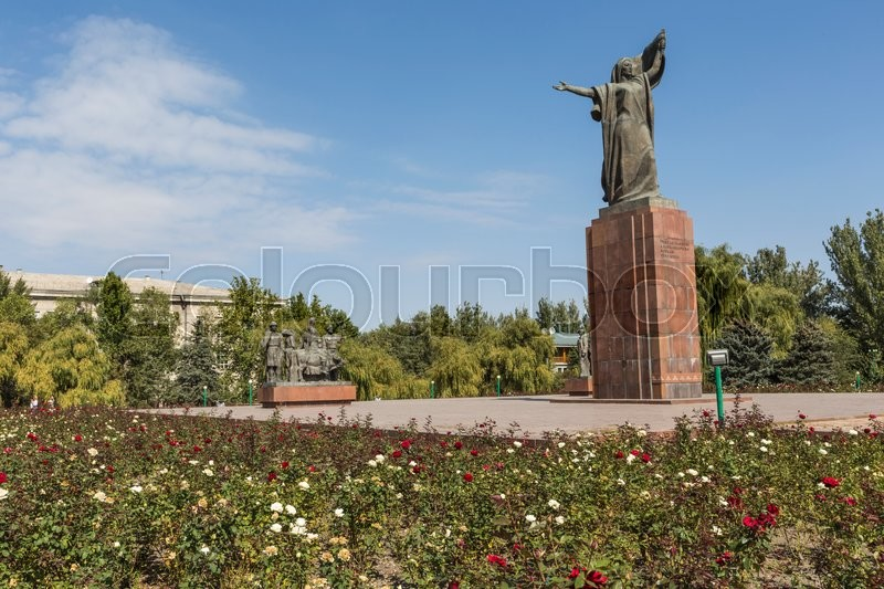 Monument to the Fighters of the Revolution.Kyrgyzstan, stock photo