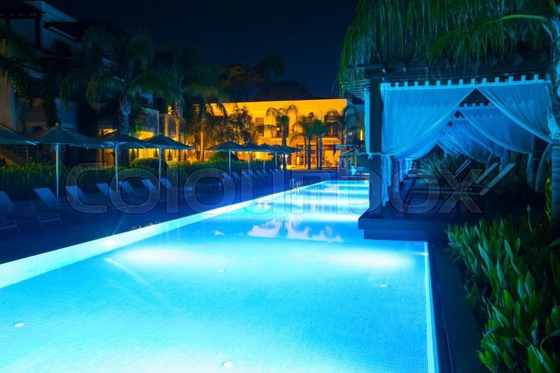Swimming pool of luxury hotel, stock photo