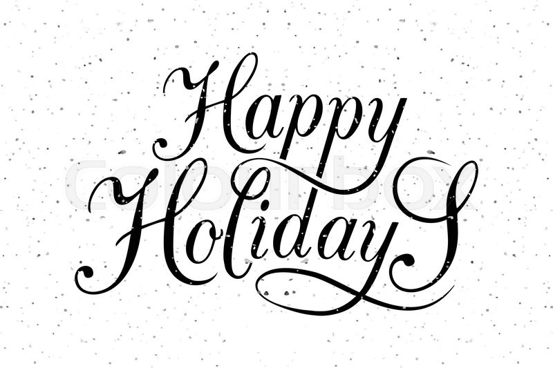 Hand sketched Happy Holidays logotype, badge and icon typography ...