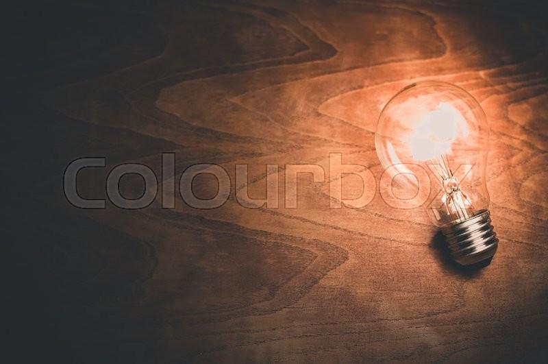 Lightning Bulb Concept, stock photo