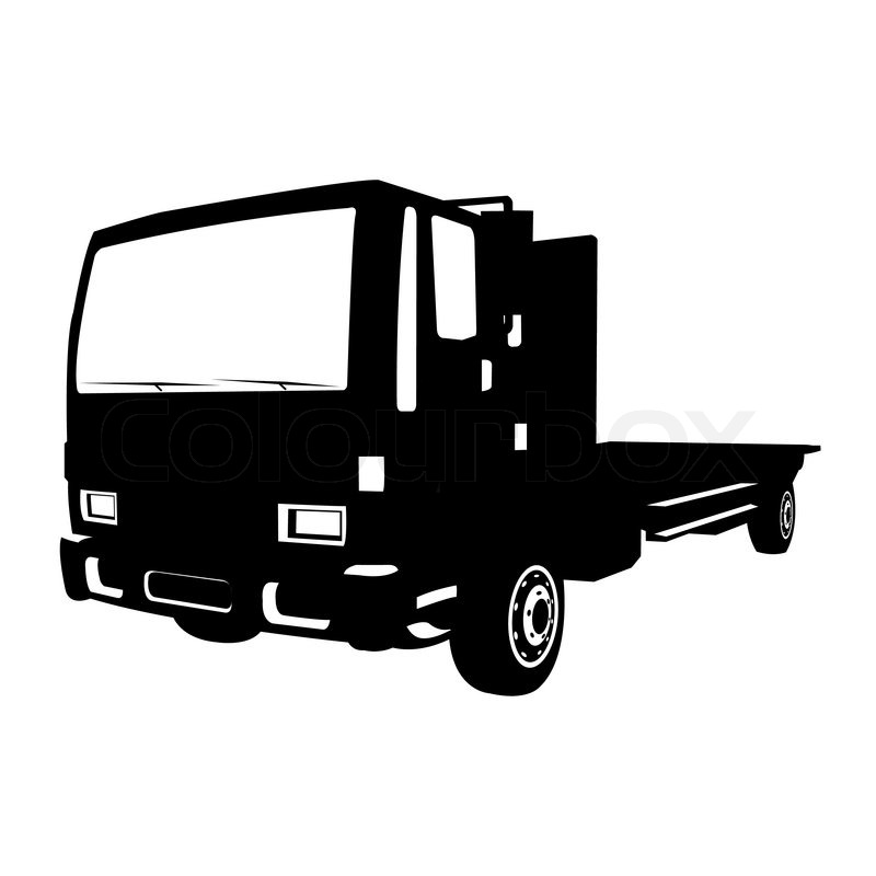 small black truck vector illustration stock vector colourbox