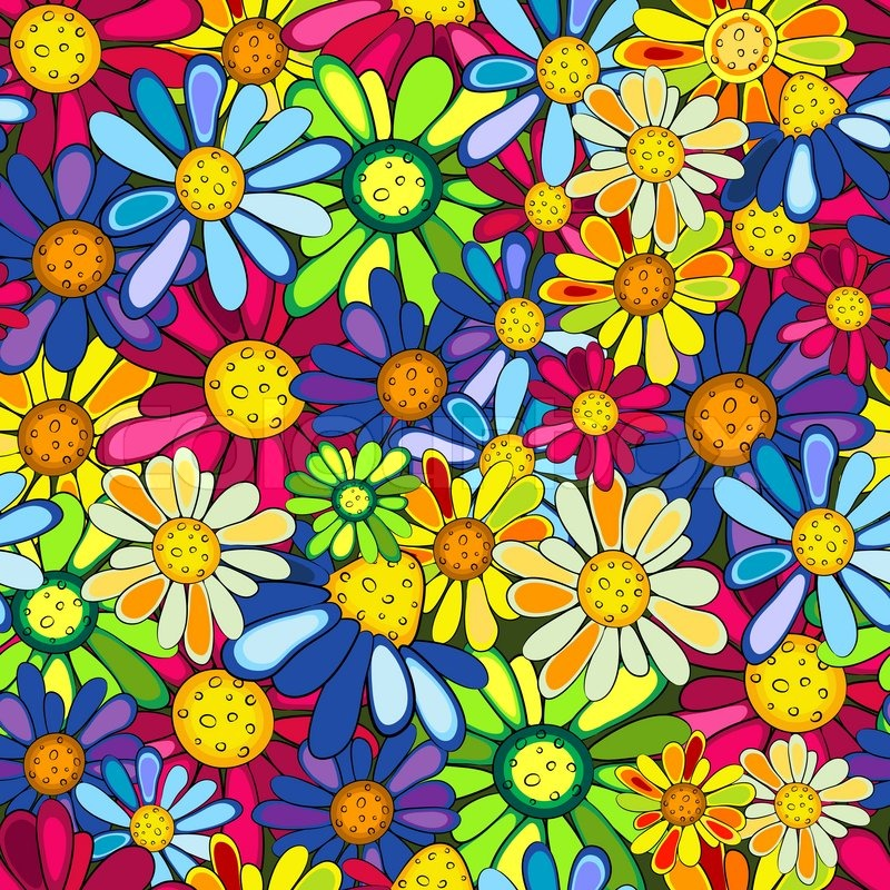 colorful floral background patterns - photo #13