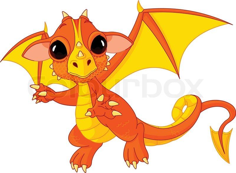 Illustration der Cute Cartoon Baby-Drachen Enthäuten | Vektorgrafik ...