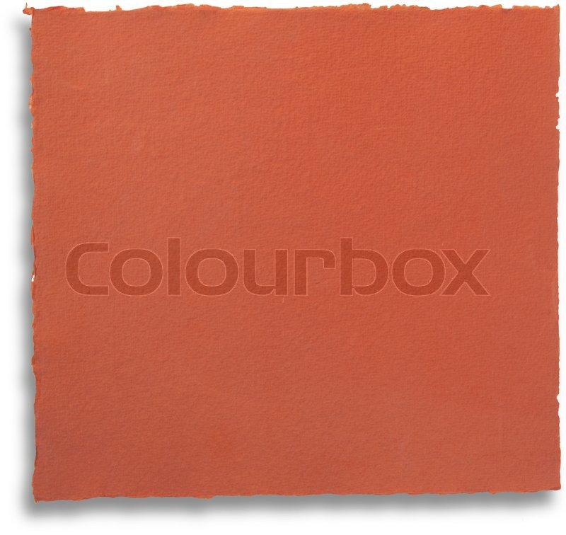 Red paper with torn edges - isolated - background, stock photo