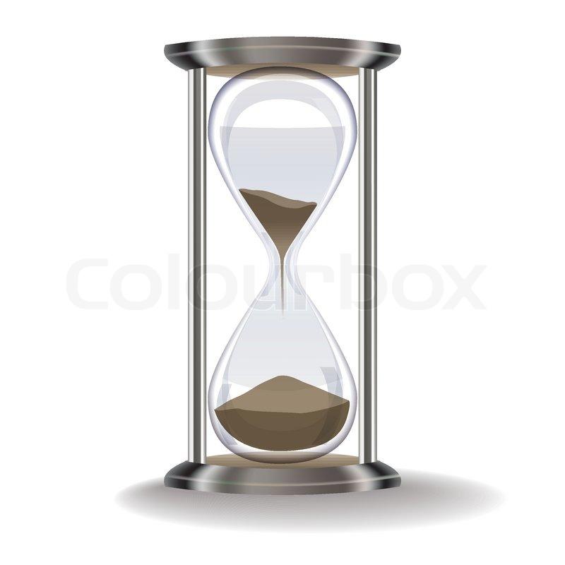 alte sanduhr auf einem wei u00dfen hintergrund vektorgrafik hourglass vector drawing hourglass vector outline
