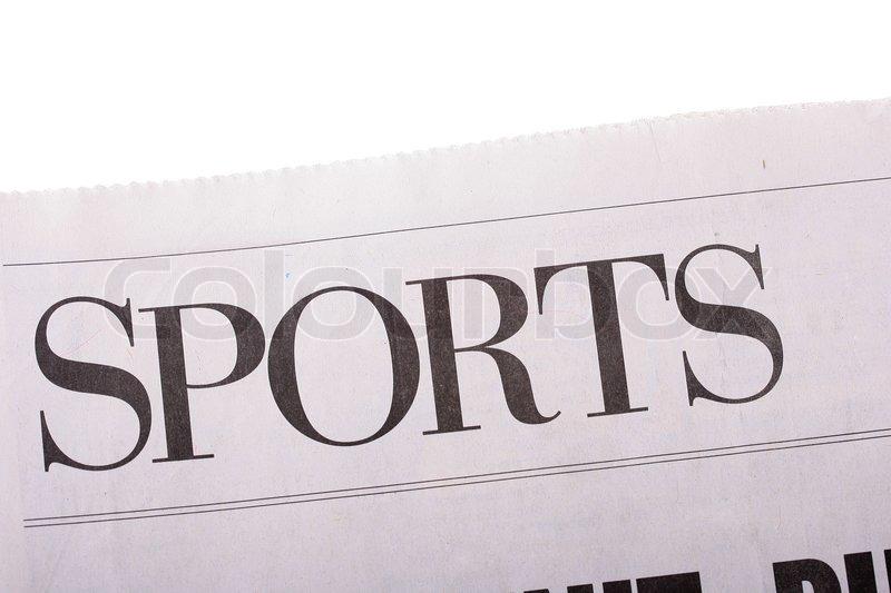 word sport als berschrift berschrift in der zeitung stock foto colourbox. Black Bedroom Furniture Sets. Home Design Ideas