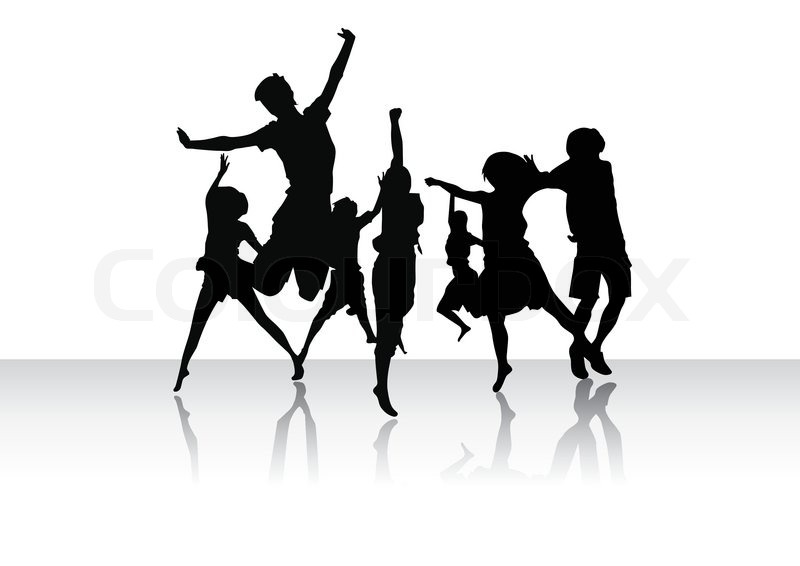 Group Of Peoples In Dance Stock Vector Colourbox