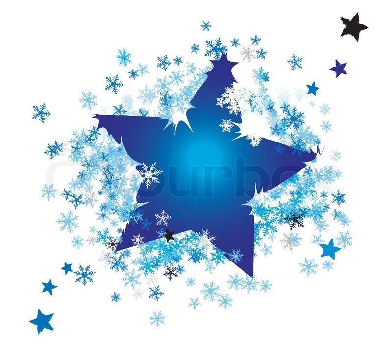 vector weihnachten hintergrund eingewickelt sterne bis in schneeflocken vektorgrafik colourbox. Black Bedroom Furniture Sets. Home Design Ideas
