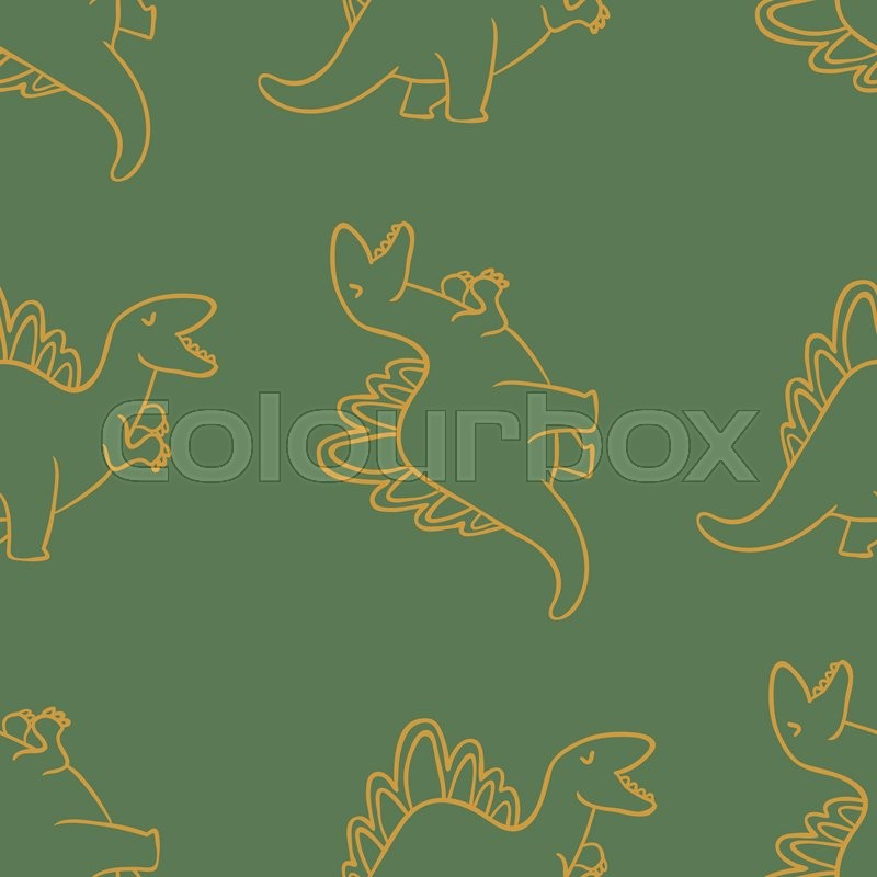 Adorable Dinosaurs Seamless Pattern For Wallpapers Pattern Fills