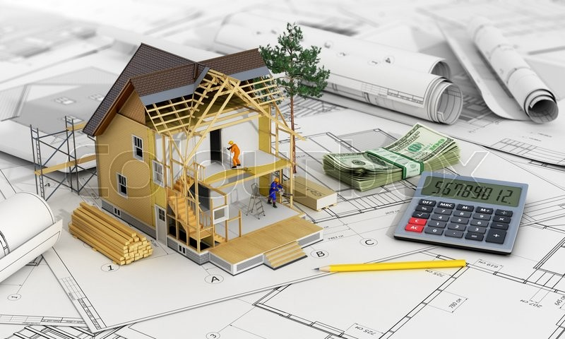 concept of construction and architect design 3d render of