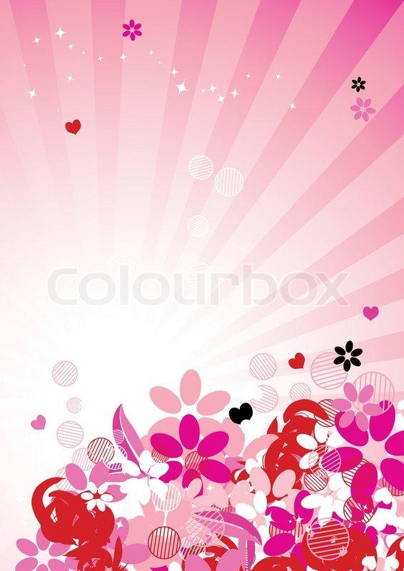 floral pink