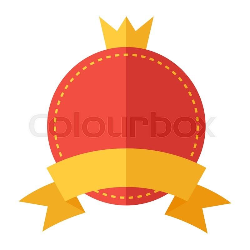 Modern flat design badge icon  Vector     | Stock vector