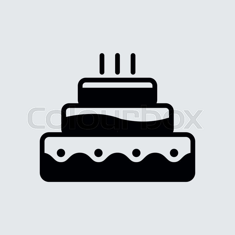 Happy Birthday Cake.vector illustration. | Stock Vector ...