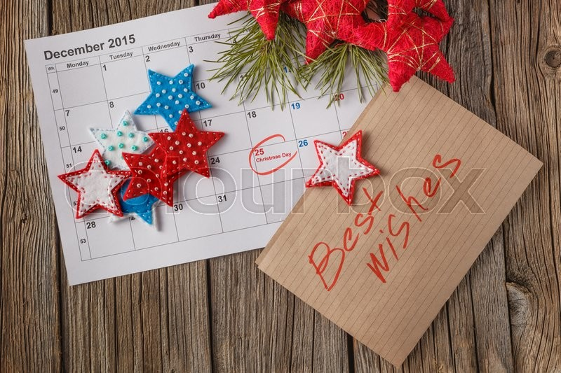 Ready to coming christmas. Calendar with marked date of christmas ...