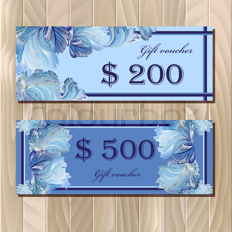 Gift Certificate Coupon Templatevoucher Holiday Or Celebration