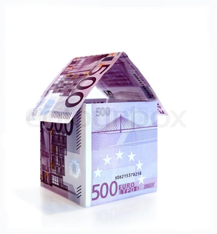 money haus ab 500 euro banknoten aus stock foto colourbox. Black Bedroom Furniture Sets. Home Design Ideas