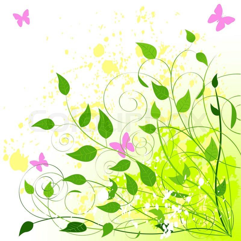 Beautiful Green Summer Background Stock Vector Colourbox