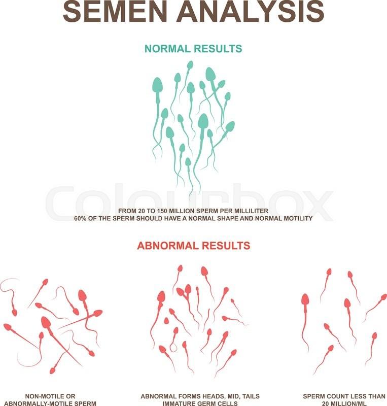 Count abnormal sperm