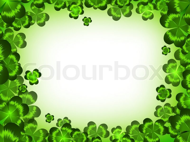 St patrick holiday clover frame copyspace stock photo for Irish mail cart plans