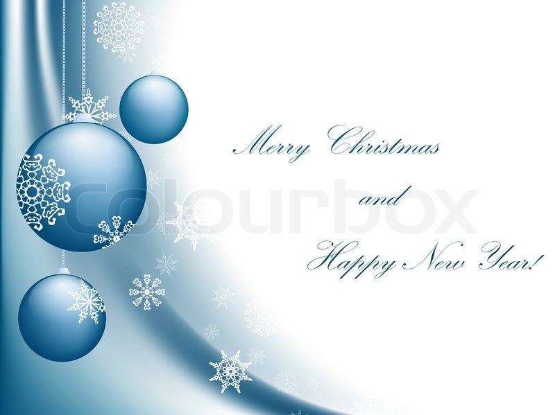 merry christmas and happy new year greeting card with copyspace stock photo colourbox