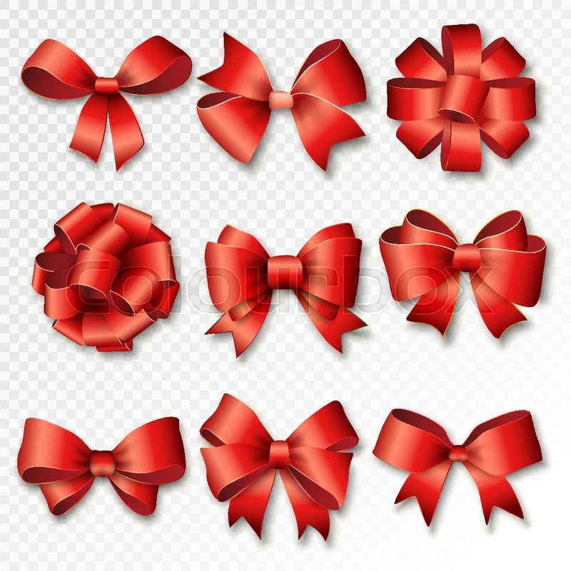 Red ribbons set for gifts red gift bows with ribbons vector red ribbons set for gifts red gift bows with ribbons vector illustration red gift ribbons and bows for new year celebrate negle Image collections