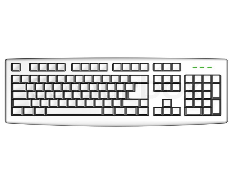 Computer Keyboard With Empty Keys Stock Image Colourbox