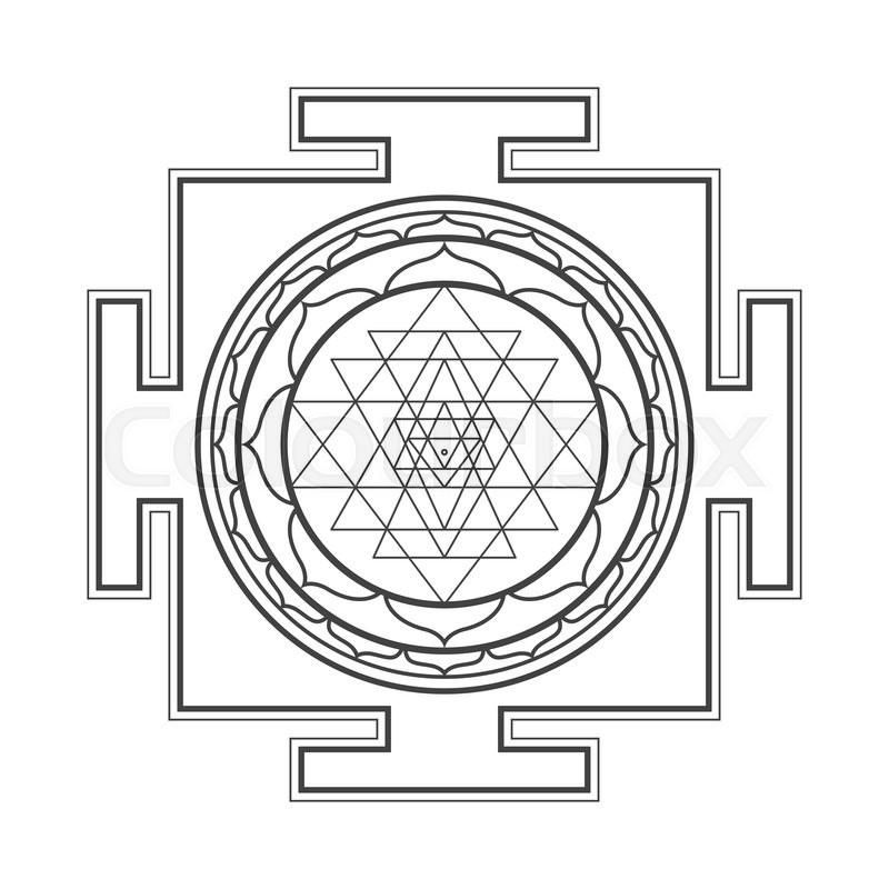 800px_COLOURBOX16854152 vector black outline hinduism sri stock vector colourbox