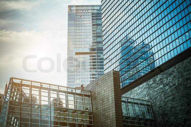 Modern skyscraper business office, corporate building abstract. Modern architecture, stock photo