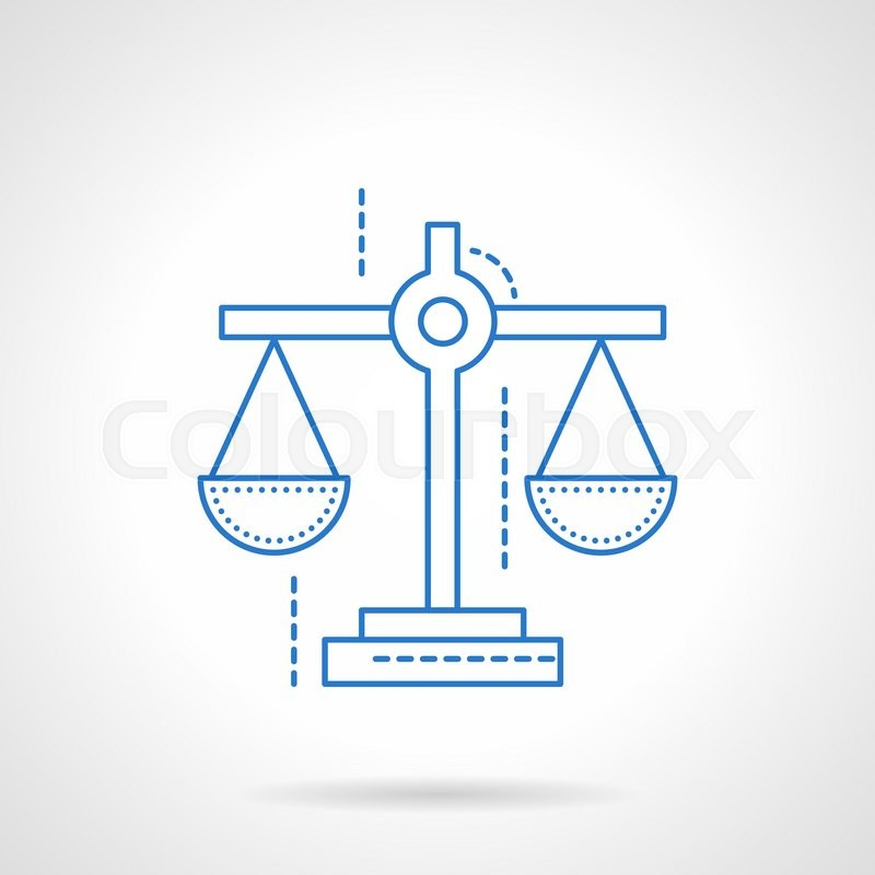 Scales Symbol For Justice Business Evaluation Of Financial Risks