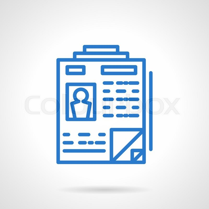 personal document or resume recruitment agency business