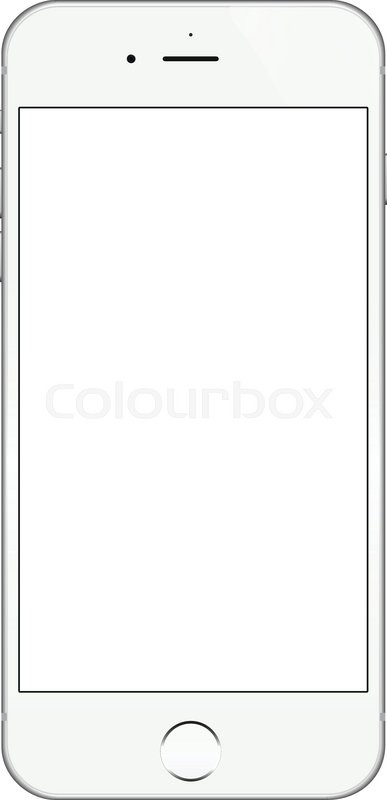 bangkok thailand dec 16 2015 realistic white iphone 6 blank screen vector design iphone 6. Black Bedroom Furniture Sets. Home Design Ideas