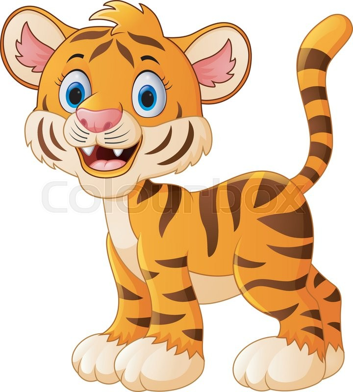 Cute baby tiger cartoon  Buy this stock vector and