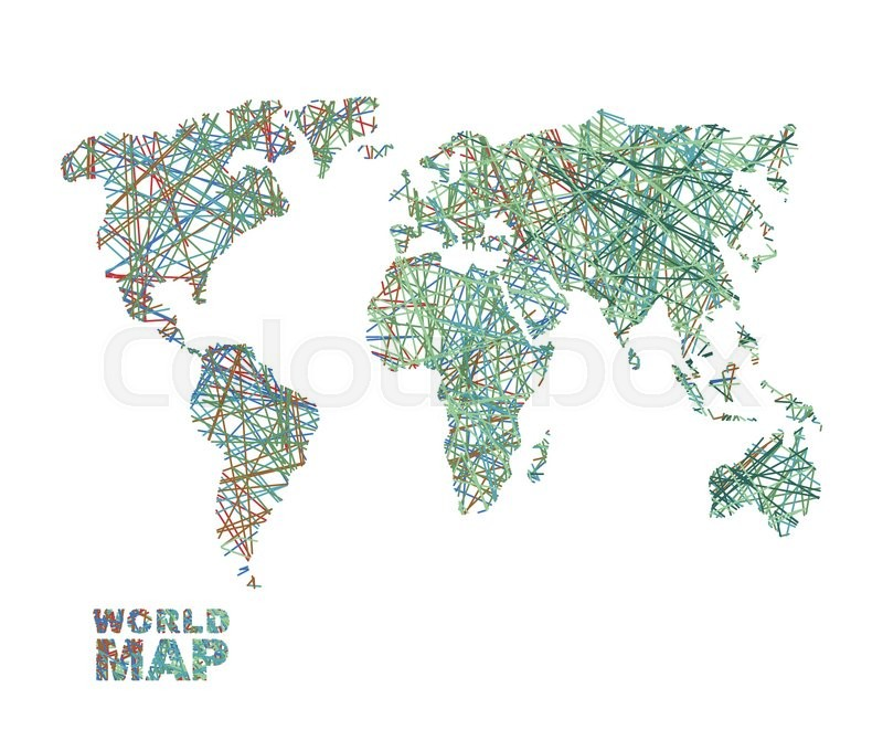 World map colored lines global internet network connects matter of world map colored lines global internet network connects matter of planet earth business concept global connectivity and communication geography data gumiabroncs Images